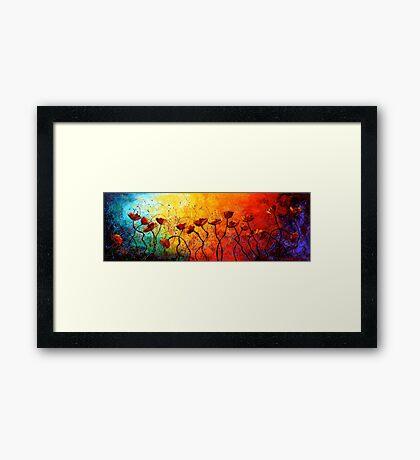 The Poppy Universe Framed Print