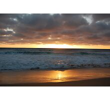 Sunset at cape Paterson Photographic Print