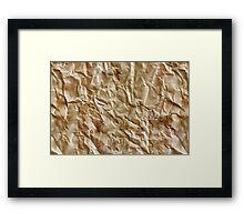 Paper texture Framed Print