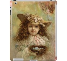 Girl with blue eggs iPad Case/Skin
