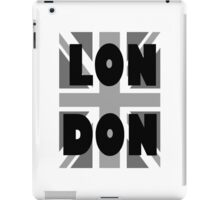 UNION JACK, LONDON, ENGLAND, GREY, BRITISH, UK, iPad Case/Skin
