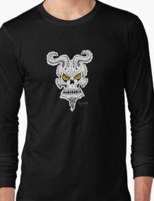 Horned Demon Skull Long Sleeve T-Shirt