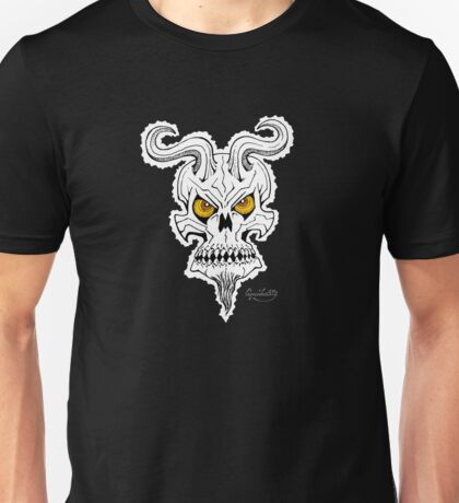 Horned Demon Skull Unisex T-Shirt