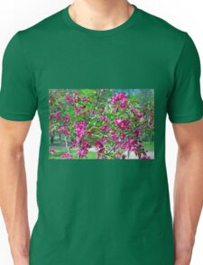 Pink spring flowers on branches Unisex T-Shirt