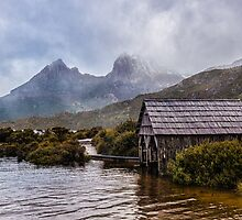 Cradle Mountain Peeking Out by Kristin Repsher