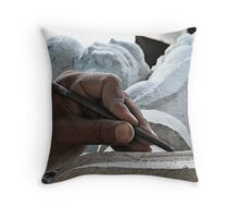 Let the stone tell the story Throw Pillow