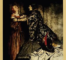 The romance of King Arthur and his knights of the Round Table art Arthur Rackham 1917 0203 Tristram & Isolde with Love Drink by wetdryvac