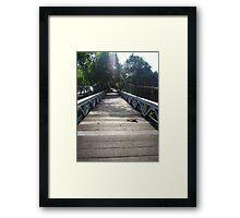 Ubud bridge  Framed Print