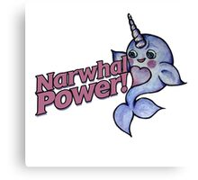 Narwhal POWER Canvas Print