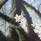 Almond Blossom Triptych by lizzyforrester