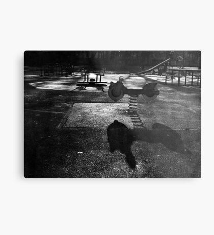 Playground in The Winter Sun Metal Print