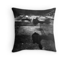 Playground in The Winter Sun Throw Pillow