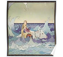 Tanglewood Tales by Nathaniel Hawthorne with Illustrations by Virginia Frances Sterrett 1921 1 On a White Bull Poster