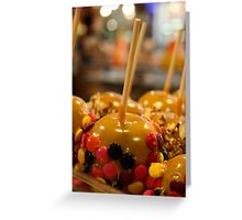 Apples dressed smart Greeting Card