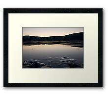 Iced Sea Scape Framed Print