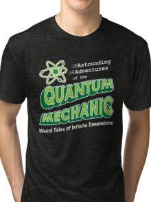Geeky Comic Book Style Quantum Mechanics Theory Tri-blend T-Shirt