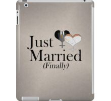 Just Married (Finally) Dress and Tux Hearts Tie iPad Case/Skin