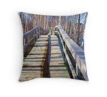 Wooden Paths Throw Pillow