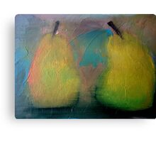 Pear Pair Canvas Print