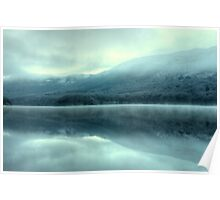 Mist on Coniston Water Poster