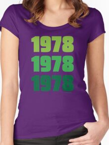 1978 Stacked Women's Fitted Scoop T-Shirt