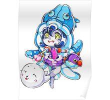 Chibi Pool Party Lulu Poster