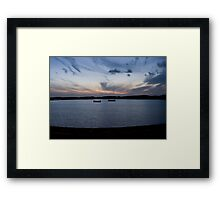 The sunken Jetty - Fleetwood boating pool Framed Print