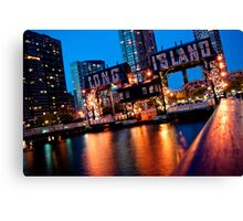 Long Island City Gantries Canvas Print