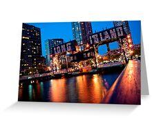 Long Island City Gantries Greeting Card