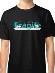 Fragile - polar bears arctic scene Classic T-Shirt