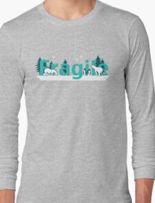Fragile - polar bears arctic scene Long Sleeve T-Shirt