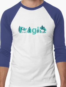 Fragile - polar bears arctic scene Men's Baseball ¾ T-Shirt