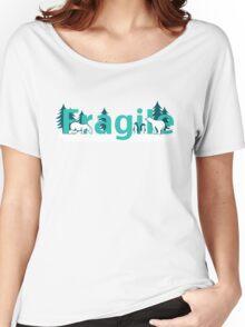 Fragile - polar bears arctic scene Women's Relaxed Fit T-Shirt