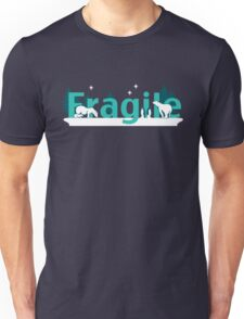Fragile - polar bears arctic scene Unisex T-Shirt