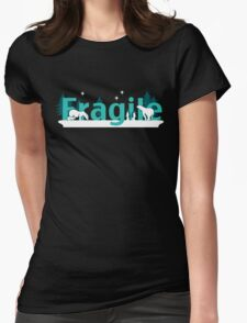 Fragile - polar bears arctic scene Womens Fitted T-Shirt