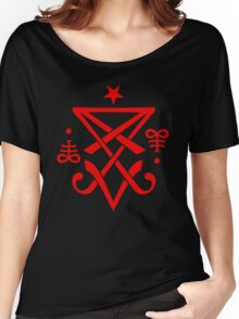 Occult Sigil of Lucifer Satanic Women's Relaxed Fit T-Shirt