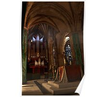 Organ & arches - St. Giles Cathedral Poster