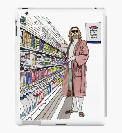 Jeffrey Lebowski and Milk. AKA, the Dude. iPad Case/Skin