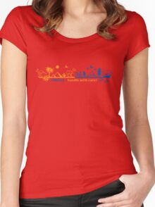 Fragile - handle with care! version 2 Women's Fitted Scoop T-Shirt