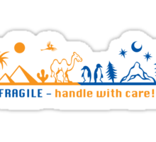Fragile - handle with care! version 2 Sticker
