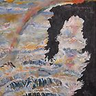 Axis Mundi Heaven and Earth Hawaii 16x20 acrylic on canvas by eoconnor