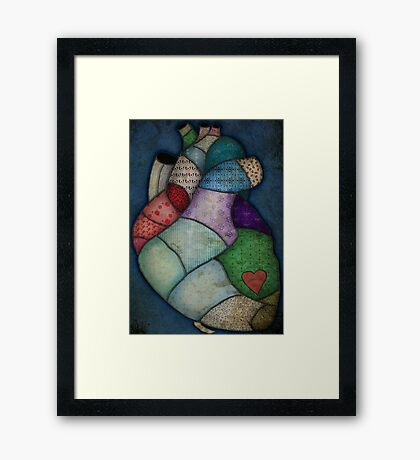 What Heart Are you? - No. 2: Patchwork Heart Framed Print