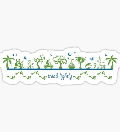 Tread lightly - version 2 Sticker