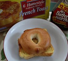 BAGLE AND FRENCH TOAST WITH SYRUP by FoodMaster