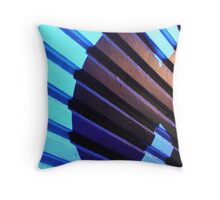 deep blue C  Throw Pillow