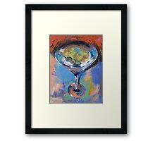 Martini Oil Painting Framed Print