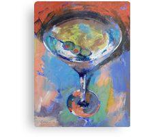Martini Oil Painting Metal Print