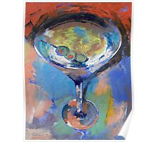 Martini Oil Painting Poster