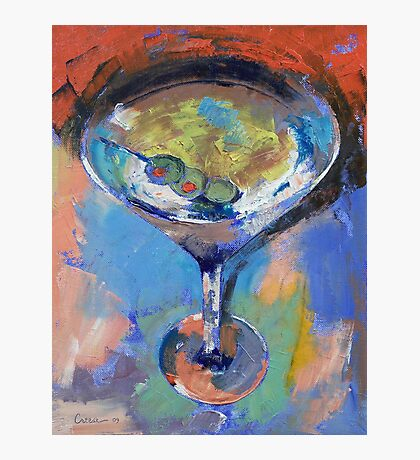 Martini Oil Painting Photographic Print