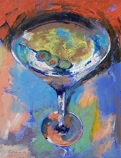 Martini Oil Painting by Michael Creese
